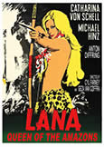 (995) LANA QUEEN OF THE AMAZONS (1965) rare jungle girl pic